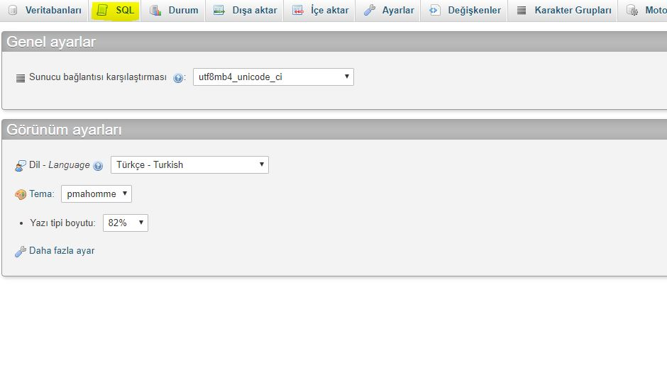 wordpress site adresini değiştirme